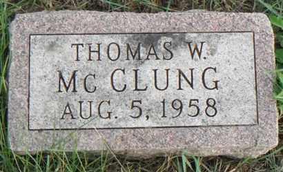 MCCLUNG, THOMAS W. - Minnehaha County, South Dakota | THOMAS W. MCCLUNG - South Dakota Gravestone Photos
