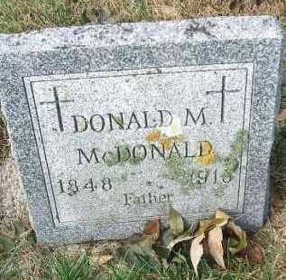 MCDONALD, DONALD M. - Minnehaha County, South Dakota | DONALD M. MCDONALD - South Dakota Gravestone Photos