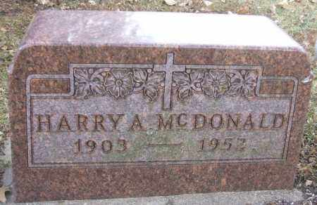 MCDONALD, HARRY A. - Minnehaha County, South Dakota | HARRY A. MCDONALD - South Dakota Gravestone Photos