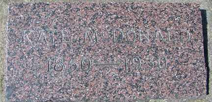 MCDONALD, KATE - Minnehaha County, South Dakota | KATE MCDONALD - South Dakota Gravestone Photos