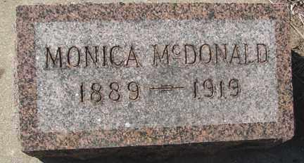 MCDONALD, MONICA - Minnehaha County, South Dakota   MONICA MCDONALD - South Dakota Gravestone Photos