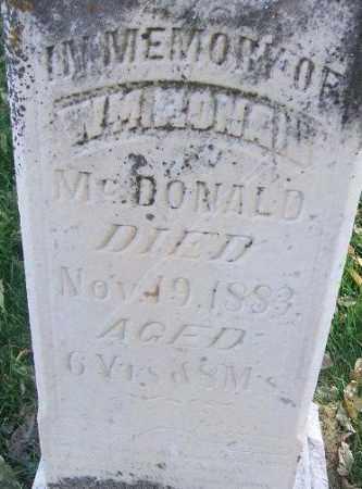 MCDONALD, WILLIAM RONAN - Minnehaha County, South Dakota   WILLIAM RONAN MCDONALD - South Dakota Gravestone Photos