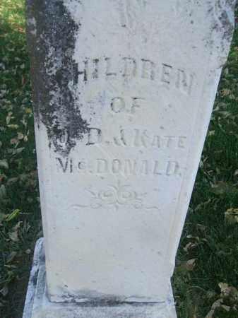 MCDONALD, WILLIAM AND ISABELLA - Minnehaha County, South Dakota | WILLIAM AND ISABELLA MCDONALD - South Dakota Gravestone Photos