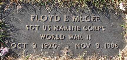 MCGEE, FLOYD E. (WWII) - Minnehaha County, South Dakota   FLOYD E. (WWII) MCGEE - South Dakota Gravestone Photos