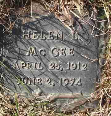 MCGEE, HELEN L. - Minnehaha County, South Dakota   HELEN L. MCGEE - South Dakota Gravestone Photos