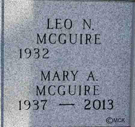 MCGUIRE, MARY A. - Minnehaha County, South Dakota | MARY A. MCGUIRE - South Dakota Gravestone Photos
