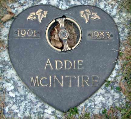 MCINTIRE, ADDIE - Minnehaha County, South Dakota   ADDIE MCINTIRE - South Dakota Gravestone Photos