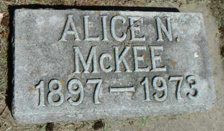 MCKEE, ALICE N. - Minnehaha County, South Dakota   ALICE N. MCKEE - South Dakota Gravestone Photos