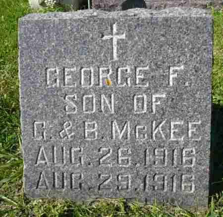 MCKEE, GEORGE F. - Minnehaha County, South Dakota | GEORGE F. MCKEE - South Dakota Gravestone Photos