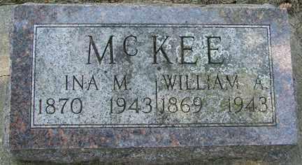 MCKEE, WILLIAM A. - Minnehaha County, South Dakota | WILLIAM A. MCKEE - South Dakota Gravestone Photos
