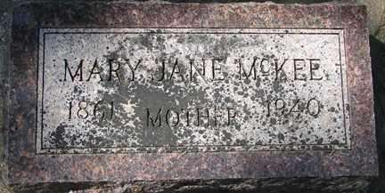 MCKEE, MARY JANE - Minnehaha County, South Dakota | MARY JANE MCKEE - South Dakota Gravestone Photos