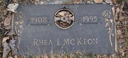 MCKEON, RHEA I. - Minnehaha County, South Dakota | RHEA I. MCKEON - South Dakota Gravestone Photos
