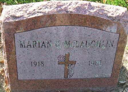 MCLAUGHLIN, MARIAN - Minnehaha County, South Dakota   MARIAN MCLAUGHLIN - South Dakota Gravestone Photos