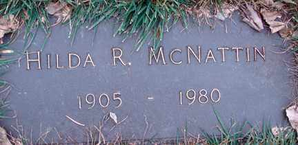 MCNATTIN, HILDA R. - Minnehaha County, South Dakota   HILDA R. MCNATTIN - South Dakota Gravestone Photos