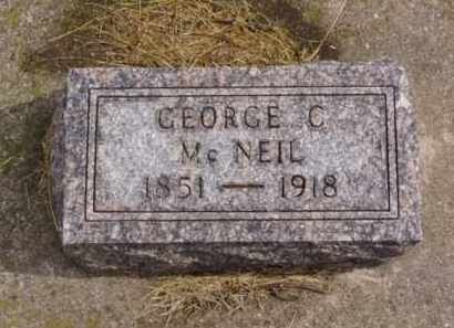 MCNEIL, GEORGE C. - Minnehaha County, South Dakota | GEORGE C. MCNEIL - South Dakota Gravestone Photos