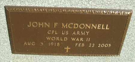 MDDONNELL, JOHN F. - Minnehaha County, South Dakota | JOHN F. MDDONNELL - South Dakota Gravestone Photos