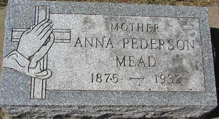 PEDERSON MEAD, ANNA - Minnehaha County, South Dakota | ANNA PEDERSON MEAD - South Dakota Gravestone Photos