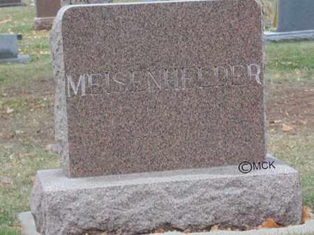 MEISENHELDER, HEADSTONE - Minnehaha County, South Dakota | HEADSTONE MEISENHELDER - South Dakota Gravestone Photos