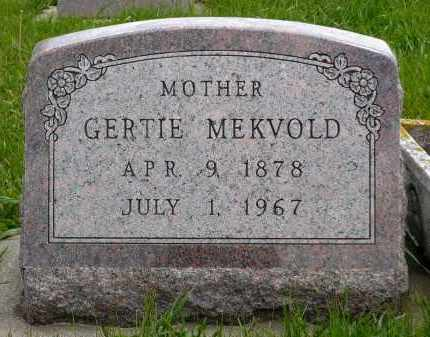MEKVOLD, GERTIE - Minnehaha County, South Dakota | GERTIE MEKVOLD - South Dakota Gravestone Photos
