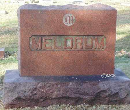 MELDRUM, HEADSTONE - Minnehaha County, South Dakota | HEADSTONE MELDRUM - South Dakota Gravestone Photos