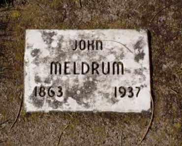 MELDRUM, JOHN - Minnehaha County, South Dakota | JOHN MELDRUM - South Dakota Gravestone Photos