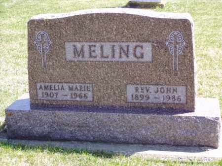 MELING, JOHN REV. - Minnehaha County, South Dakota | JOHN REV. MELING - South Dakota Gravestone Photos