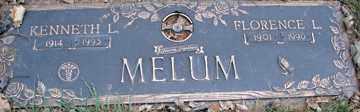 MELUM, FLORENCE L. - Minnehaha County, South Dakota | FLORENCE L. MELUM - South Dakota Gravestone Photos