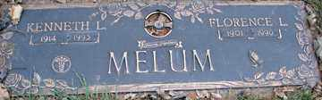 MELUM, FLORENCE L. - Minnehaha County, South Dakota   FLORENCE L. MELUM - South Dakota Gravestone Photos