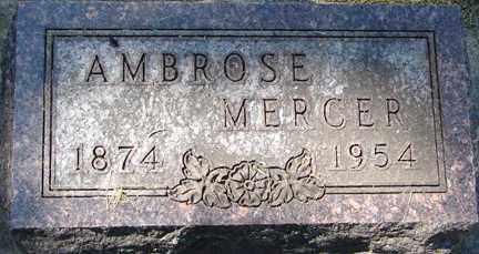 MERCER, AMBROSE - Minnehaha County, South Dakota | AMBROSE MERCER - South Dakota Gravestone Photos