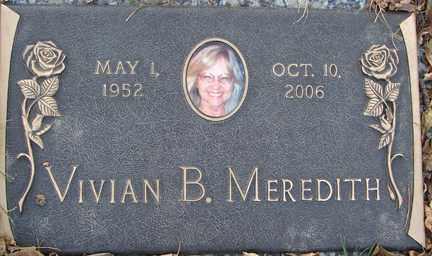MEREDITH, VIVIAN B. - Minnehaha County, South Dakota   VIVIAN B. MEREDITH - South Dakota Gravestone Photos