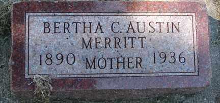 MERRITT, BERTHA C. - Minnehaha County, South Dakota | BERTHA C. MERRITT - South Dakota Gravestone Photos