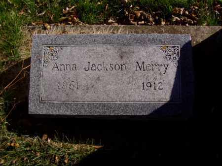 JACKSON MERRY, ANNA - Minnehaha County, South Dakota | ANNA JACKSON MERRY - South Dakota Gravestone Photos