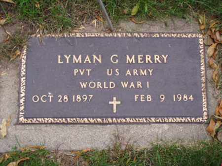 MERRY, LYMAN G. - Minnehaha County, South Dakota | LYMAN G. MERRY - South Dakota Gravestone Photos