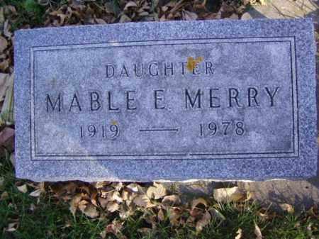 MERRY, MABLE E. - Minnehaha County, South Dakota   MABLE E. MERRY - South Dakota Gravestone Photos
