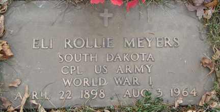 MEYERS, ELI ROLLIE (WWI) - Minnehaha County, South Dakota | ELI ROLLIE (WWI) MEYERS - South Dakota Gravestone Photos