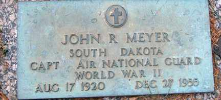 MEYER, JOHN R. (WWII) - Minnehaha County, South Dakota   JOHN R. (WWII) MEYER - South Dakota Gravestone Photos