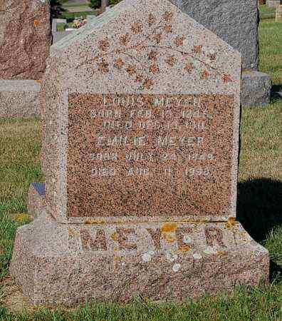 MEYER, EMILIE - Minnehaha County, South Dakota | EMILIE MEYER - South Dakota Gravestone Photos