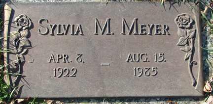 MEYER, SYLVIA M. - Minnehaha County, South Dakota   SYLVIA M. MEYER - South Dakota Gravestone Photos