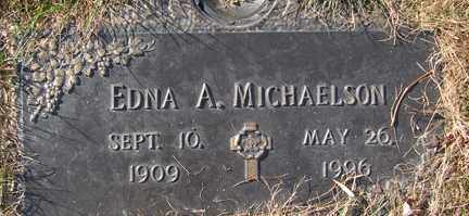 MICHAELSON, EDNA A. - Minnehaha County, South Dakota   EDNA A. MICHAELSON - South Dakota Gravestone Photos