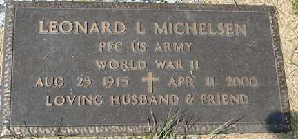 MICHELSEN, LEONARD L. (WWII) - Minnehaha County, South Dakota | LEONARD L. (WWII) MICHELSEN - South Dakota Gravestone Photos