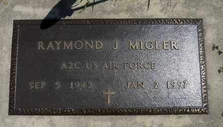 MIGLER, RAYMOND J. (MILITARY) - Minnehaha County, South Dakota | RAYMOND J. (MILITARY) MIGLER - South Dakota Gravestone Photos