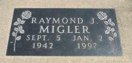 MIGLER, RAYMOND J. - Minnehaha County, South Dakota | RAYMOND J. MIGLER - South Dakota Gravestone Photos