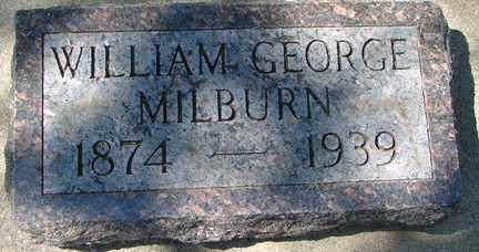 MILBURN, WILLIAM GEORGE - Minnehaha County, South Dakota | WILLIAM GEORGE MILBURN - South Dakota Gravestone Photos