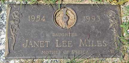 MILES, JANET LEE - Minnehaha County, South Dakota | JANET LEE MILES - South Dakota Gravestone Photos