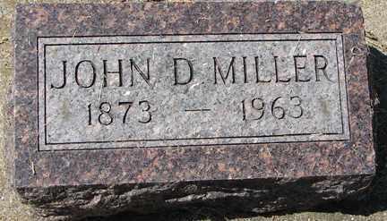 MILLER, JOHN D. - Minnehaha County, South Dakota   JOHN D. MILLER - South Dakota Gravestone Photos
