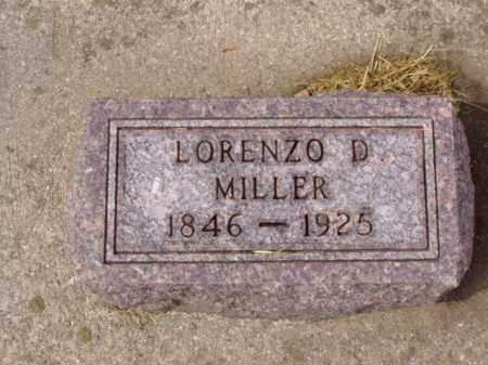 MILLER, LORENZO D. - Minnehaha County, South Dakota   LORENZO D. MILLER - South Dakota Gravestone Photos