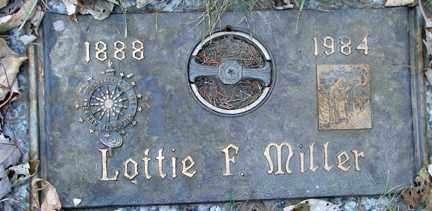 MILLER, LOTTIE F. - Minnehaha County, South Dakota   LOTTIE F. MILLER - South Dakota Gravestone Photos
