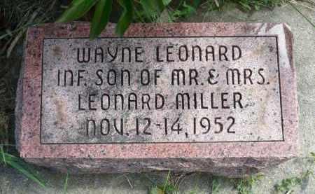 MILLER, WAYNE LEONARD - Minnehaha County, South Dakota | WAYNE LEONARD MILLER - South Dakota Gravestone Photos