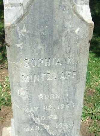 MINTZLAFF, SOPHIA M. - Minnehaha County, South Dakota | SOPHIA M. MINTZLAFF - South Dakota Gravestone Photos