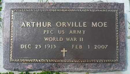 MOE, ARTHUR ORVILLE (WWII) - Minnehaha County, South Dakota   ARTHUR ORVILLE (WWII) MOE - South Dakota Gravestone Photos